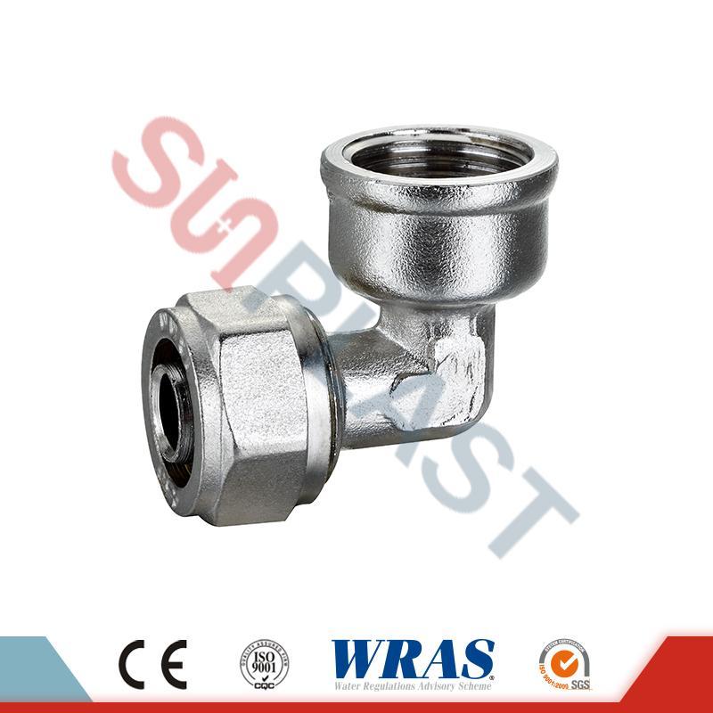 Brass Compression Female Elbow Kanggo PEX-AL-PEX Multilayer Pipe