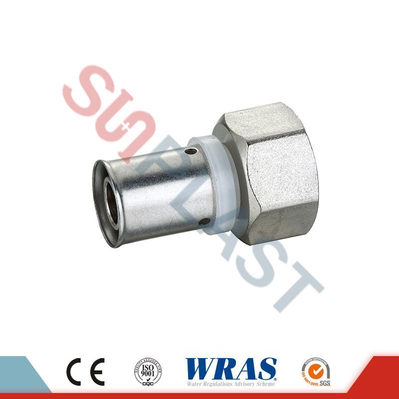 Brass Press Coupling Wanita Kanggo PEX-AL-PEX Multilayer Pipe
